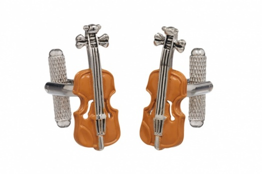 Brown Violin Cufflinks